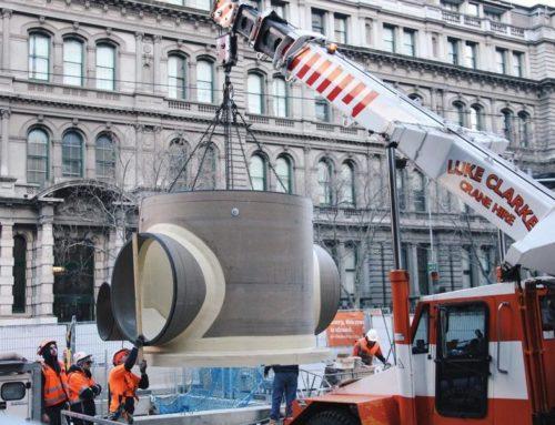 Spencer Street Sewer Upgrade: Hobas Manhole Installation